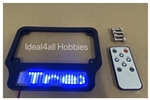 Motorcycle High Intensity SMART LED License Plate Frame (BLUE Letters)