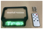 Motorcycle High Intensity SMART LED License Plate Frame (GREEN Letters)