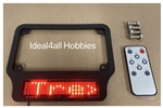 Motorcycle High Intensity SMART LED License Plate Frame (RED Letters)