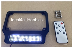 Motorcycle High Intensity SMART LED License Plate Frame (White Letters)